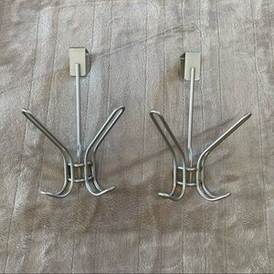 Chrome 2-Prong Door Hooks